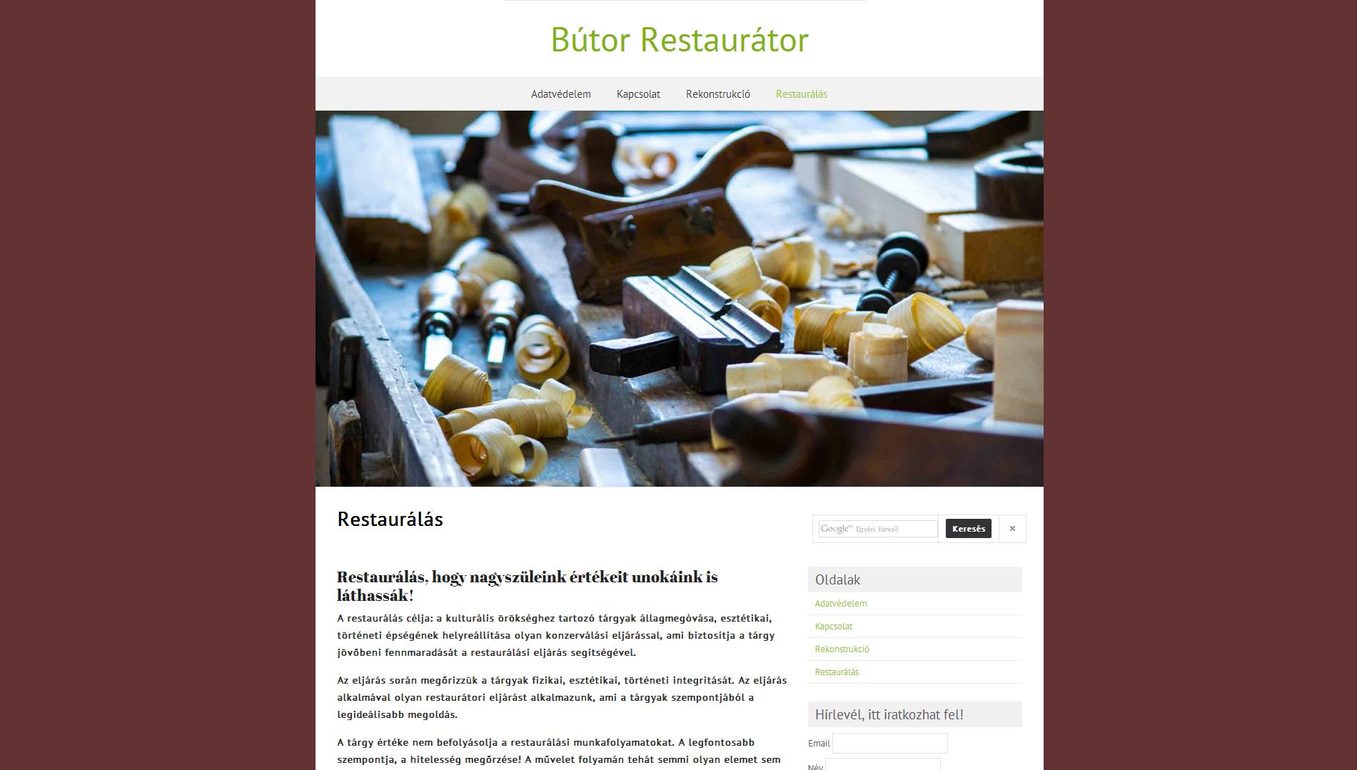 Bútor-Restaurátor.hu Bútor, nyílászáró restaurálás és rekonstrukció!