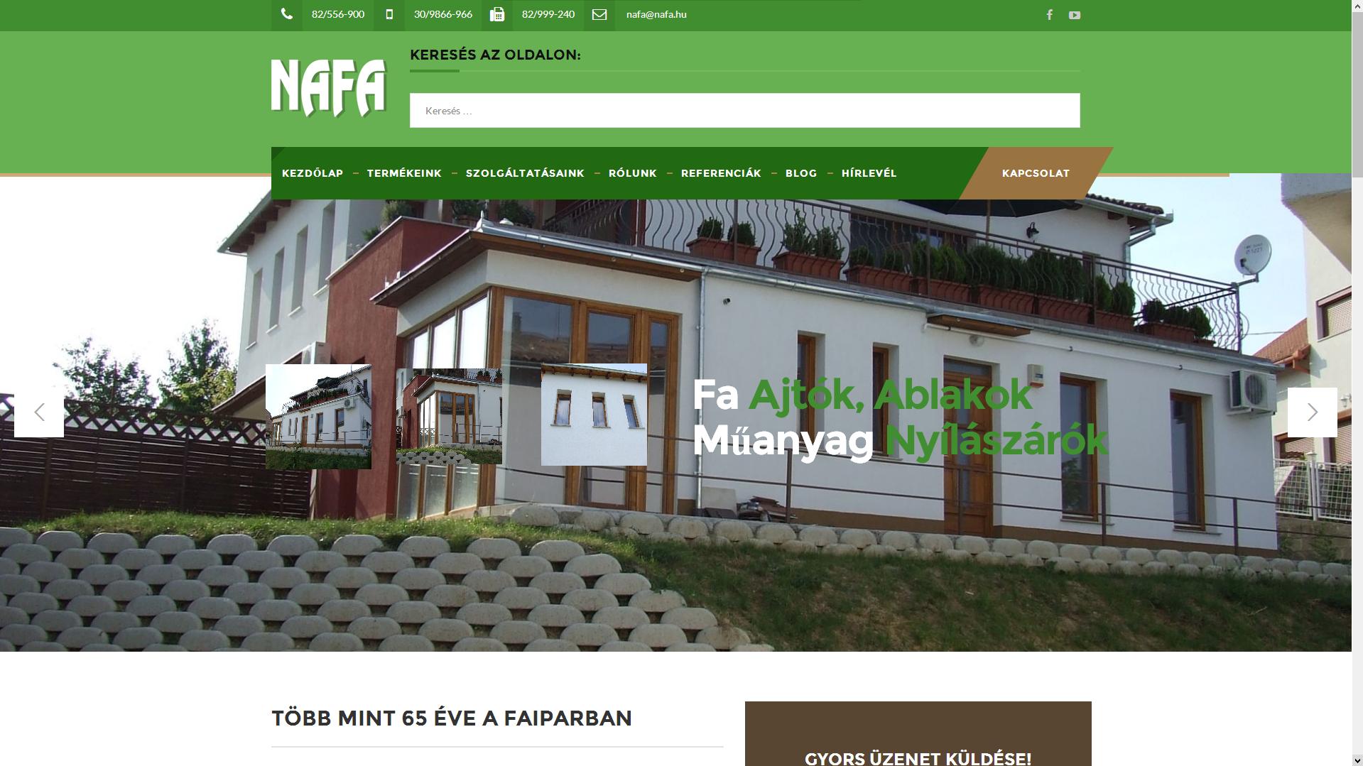 NAFA Kft. Honlap Ajtó, Ablak, Műanyag, Fa