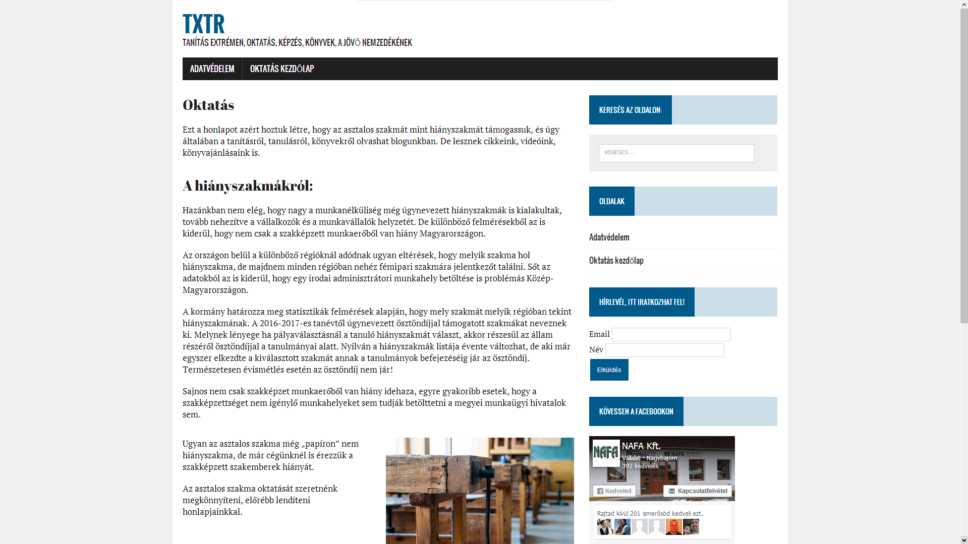 TXTR.hu Tanítás Extrémen, Asztalos, Ajtó, Ablak