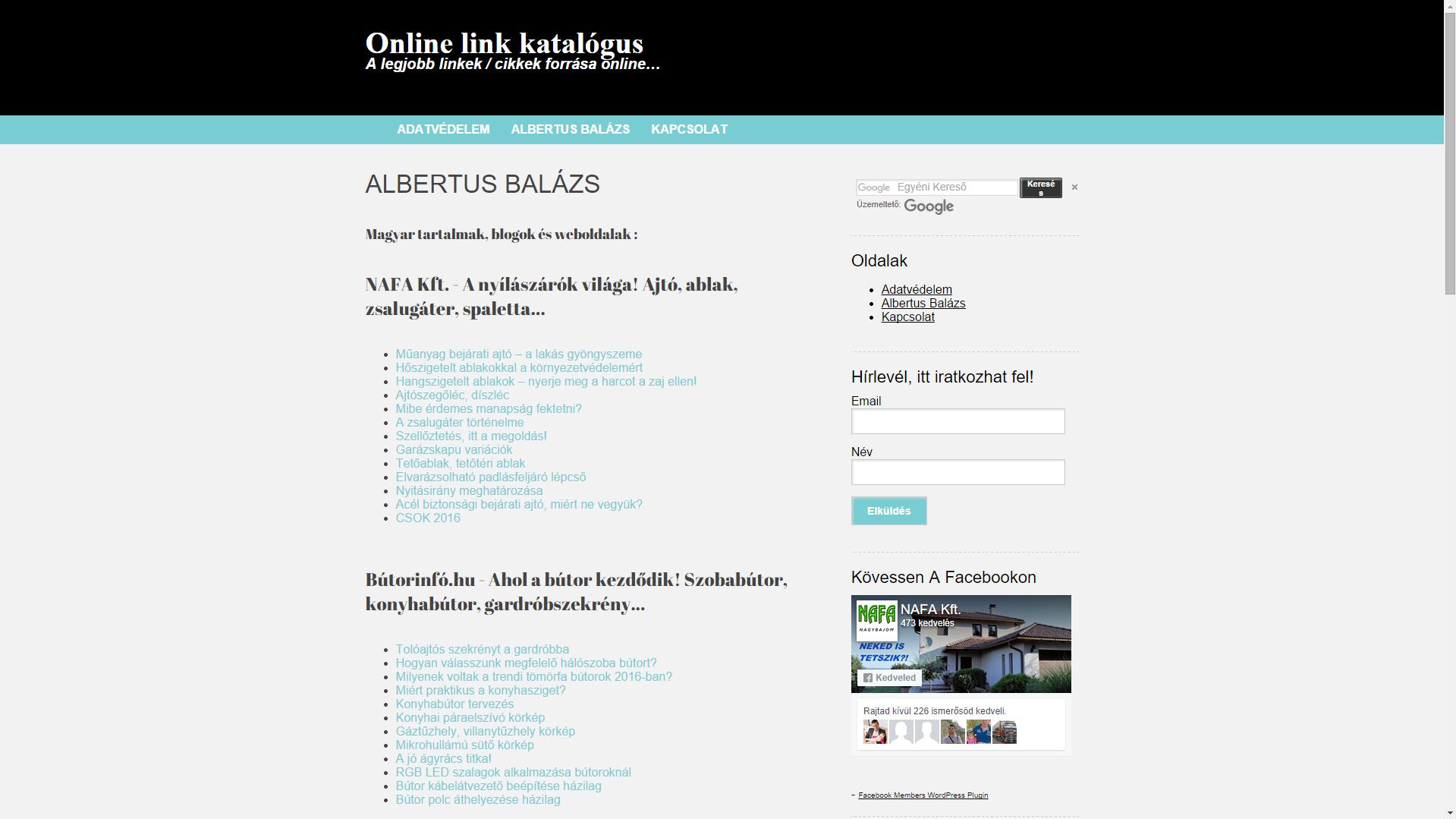 Online link katalógus.hu A legjobb linkek / cikkek forrása online...