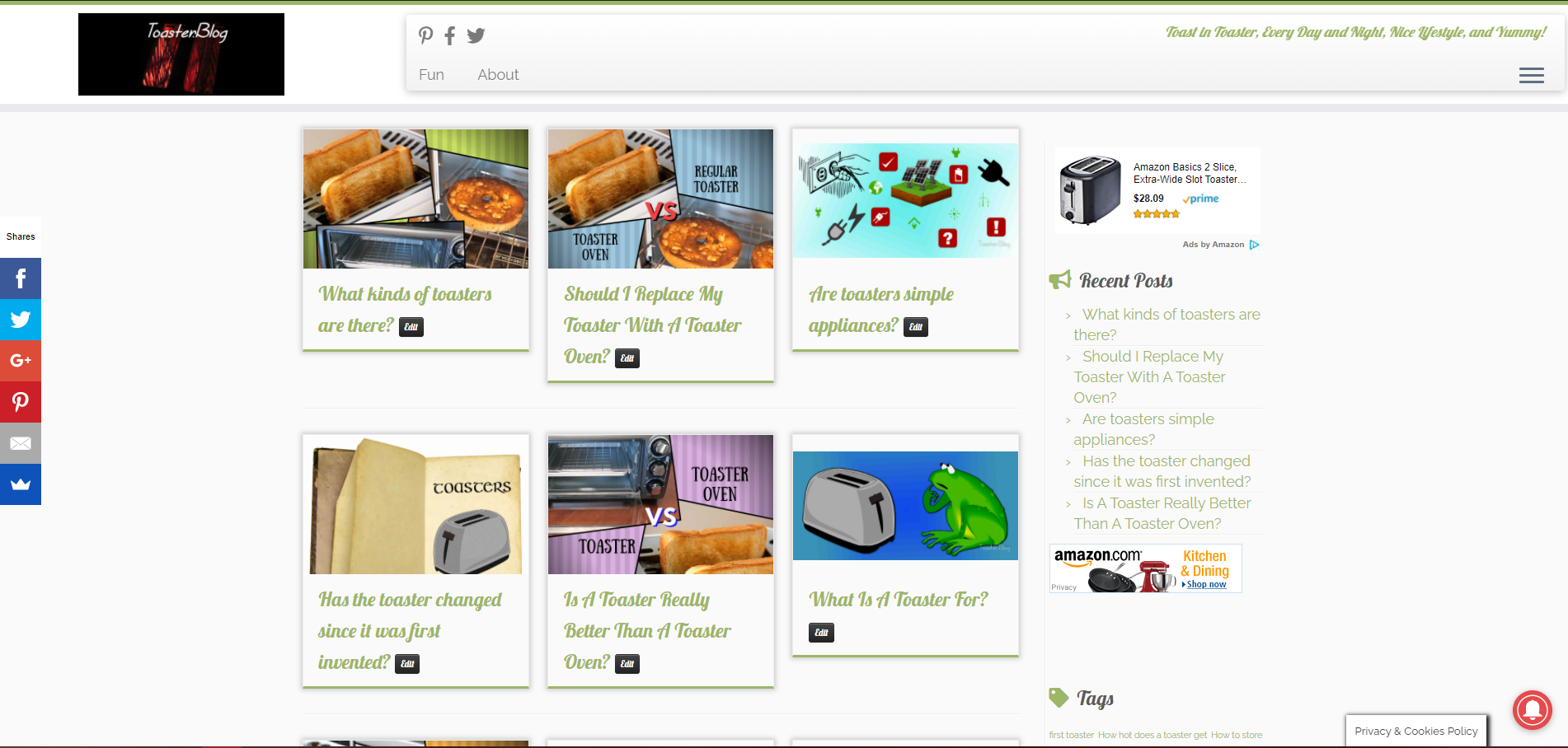 Toaster.Blog - Toast in Toaster, Every Day and Night, Nice Lifestyle, and Yummy!